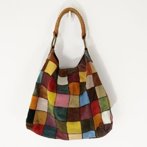 Lucky Brand Vintage Inspired Patchwork Hobo Bag